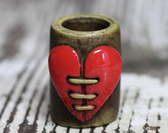 Heart dread bead 10mm