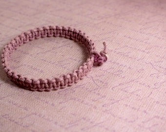 Purple Bangle Macrame Beaded Bracelet