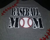 Baseball Mom Shirt--Lots of sparkles~~Customized in your team colors!!