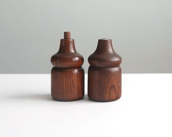 Michael Lax Copco Wood Pepper and Salt Shakers Mid Century Modern