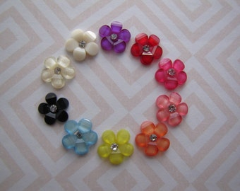 Sakura Blossoms . post earrings . resin flowers . choose your post . choose your color