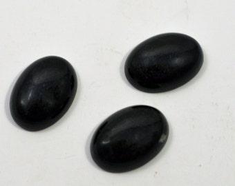 Basalt oval cabaochon, 12x17mm - #1771