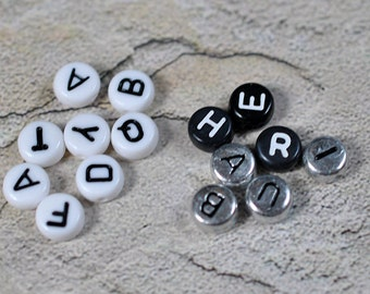 Alphabet beads, acrylic, #298