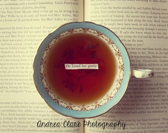 Book and Teacup, Fine art Photograph, Photography, Print, Photo, Tea, Quote, Gift for reader, romance, warm, text, vintage, Jane Austen, art