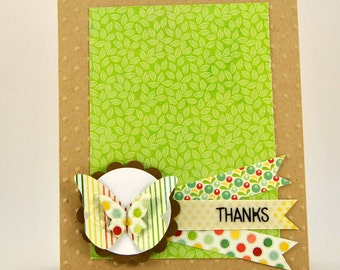 Butterfly Thank You Note Card
