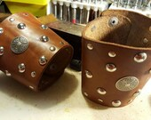 leather studded cuffs, bracers, vambraces