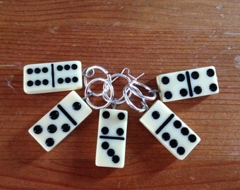 Domino Stitch Markers - Set of 5