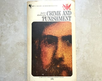 1962 Crime and Punishment by Fyodor Dostoevsky Paperback Book