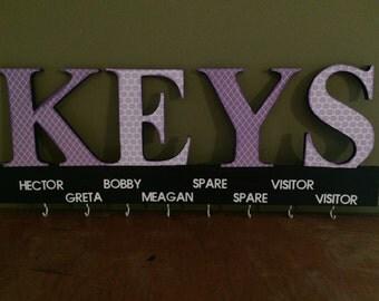 Custom Key Hanger - Key Organizer - Keyboard - Keys Sign