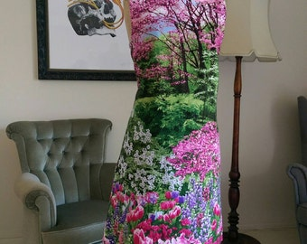 Joanie cotton botanical garden print spring dress