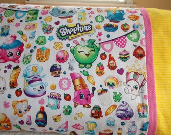 Shopkins Childrens or Travel  Pillow Case