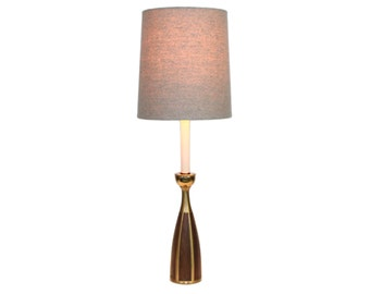 Mid-Century Danish Modern Candlestick Lamp After Laurel Tony Paul