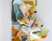 Headwrap - baby head wrap - baby turban headband - baby knot headband - girl headband - abstract painting headband