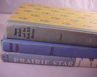 3 Young Readers Books 1930s 1950s Childrens Books