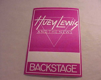 Huey Lewis and The News Otto Backstage Pass