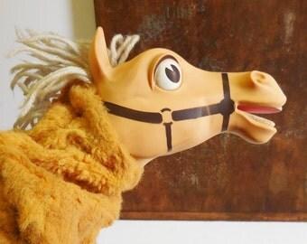 Vintage Horse Puppet Mr. Ed hand puppet toy 1960's Mattel