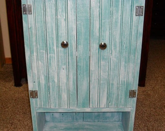 White Wash Wall Cabinet