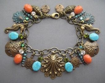 Ocean Bracelet - Nautical Bracelet - Beach Jewelry - Ocean Jewelry - Beach Bracelet - Nautical Jewelry - Sea Jewelry - Charm Bracelet