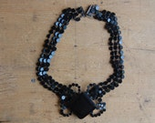 Antique French Jet choker necklace ∙ Victorian mourning choker French Jet