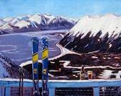 Custom SkiAK Oil Painting