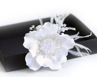 Crystal Pearl Flower Hair Clip Wedding Hair Accessories Bridal Hair Accessory Bridal Flower