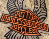 Vintage Harley Davidson Motor Cycles Patch