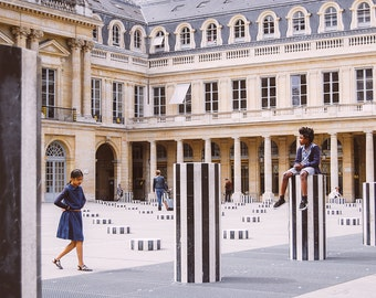 Children Playing in the Palais Royal - Paris, France Travel Fine Art Photography Print