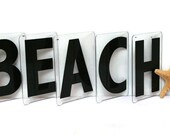 Vintage Marquee Letters  /  Beach Wedding Sign  /  Beach Sign  /  Cottage Coastal or Nautical Decor  /  Beach Letters