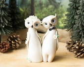 Owl Wedding Cake Topper by Bonjour Poupette