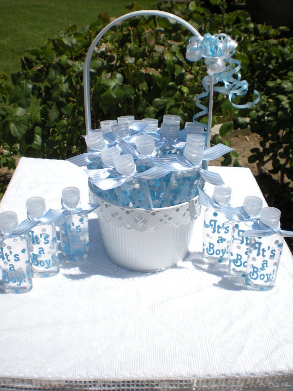 Baby Shower Favors  - 20 It's a Girl,Boy or Stork Decals - Vinyl Decal - SANITIZERS NOT INCLUDED - Travel size - Children