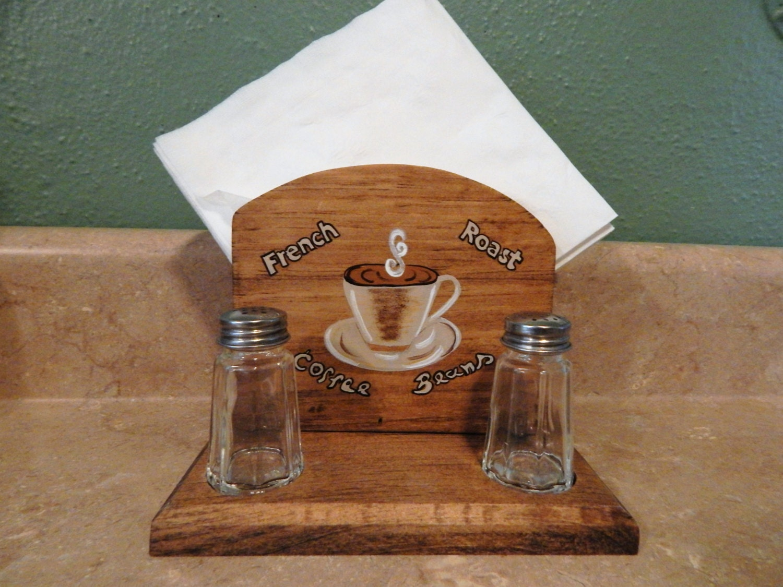 Coffee Kitchen Theme Decor Napkin Holdercoffee Theme Decorcoffee Kitchen Decorwooden