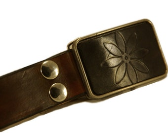 Belt buckle, flower buckle, flower belt buckle, black belt buckle, black flower