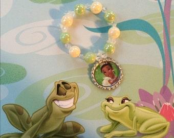 Princess and The Frog Tiana Stretch Bracelets Set of 8
