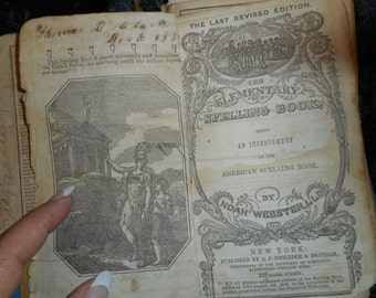 x 1843 Webster's Spelling Book (FF040316-04)