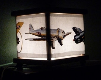 Vintage Plane Night Light Airplane Decor Nightlight Lighting