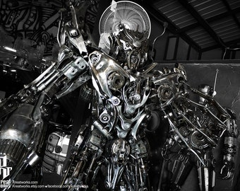 Recycled Metal Dreaded Robot (2.5 m height)