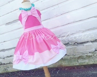 Pink Cinderella Inspired Dress Up Costume Sweetheart Halter Dress...Made to Order