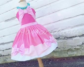 Pink Cinderella Inspired Dress Up Costume Sweetheart Halter Dress...Made to Order