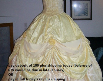 February Delivery pay  deposit or in full you choose Parks Belle gown custom womens 2 4 6 8 10