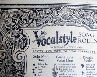 Antique Piano Roll 1926