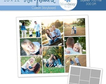 SALE 10 x 12 Storyboard for Photographers - Photoshop Template