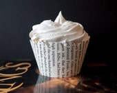 Lord of the Rings Cupcake Wrappers - One dozen wrappers - Book pages - Upcycled - Lord of thee Rings party - Ready to ship