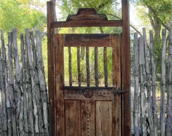 Garden Gate, Rustic Gate ,Matted 5x7 Photograph, Original Art, Wall Art,