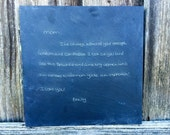 Custom Black Slate in Your Handwriting – Fast, Personalized Gift