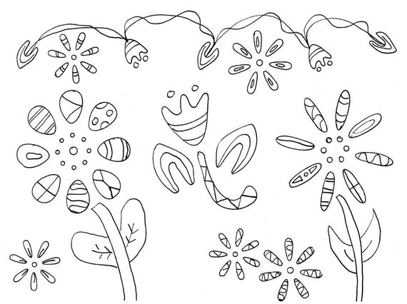 flower power coloring pages - photo#35