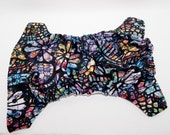 Stained Glass Cloth Diaper- Rainbow Diaper - Sugar Skull One Size Cloth Diaper - Cloth Cover - Pocket Diaper - AI2 Diaper - Velcro or Snaps