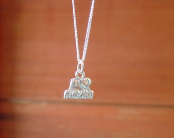 I love Dongs Charm Pendant with Chain