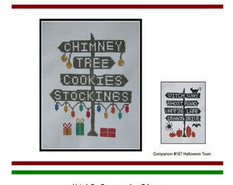 Christmas Santa Signs Cross Stitch PDF E pattern emailed Pattern Sampler Design 169