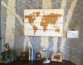 Pallet Map - World Map - Wood Map - Wooden Map - Gold Nursery Decor - Map - Map Wall Hanging - Map Of The World - Rustic Home Decor -