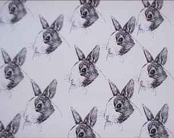 Dutch Rabbit Fabric Hot Diggity Dog Fabrics Novelty Fabric 1 yd